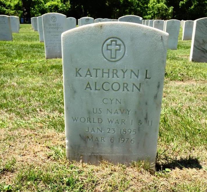 Kathryn Lufkin Alcorn's headstone at Mount Moriah Cemetery in Philadelphia, Pennsylvania