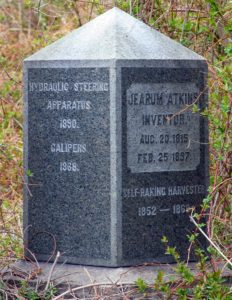 Jearum Atkins monument documenting his inventions
