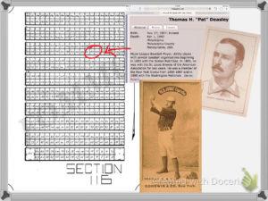 "Thomas H. ""Pat"" Deasley plot location at Mount Moriah Cemetery"