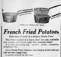 Newspaper article for French Fried Potatoes