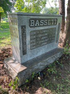 Bassett headstone