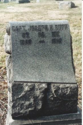Joseph Henry Ruff's headstone at Mount Moriah Cemetery in Philadelphia, Pennsylvania