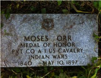 Moses Orr headstone Sylvester Hopkins Martin headstone