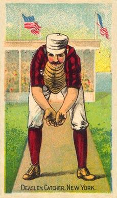 "Drawing of Thomas H. ""Pat"" Deasley in his baseball uniform"