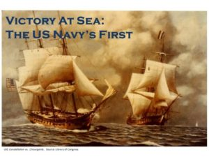 """Ships with text that reads """"Victory at Sea: The US Navy's First"""""""