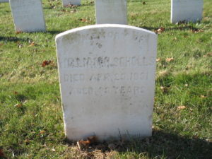 Chief Master-at-Arms William Henry Scholls headstone at Mount Moriah Cemetery