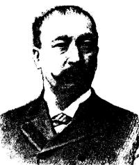 Faded black and white image of Augustus Buell