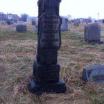 Bricker monument at Mount Moriah Cemetery