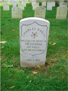 Charles Baker headstone at Mount Moriah Cemetery