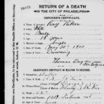 Coroner's Certificate for Ray Riker from the Flat Rock Dam Incident