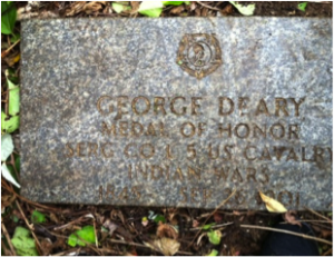 George Dreary headstone at Mount Moriah Cemetery in Philadelphia, Pennsylvania