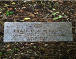 Francis A. Wilson headstone at Mount Moriah Cemetery in Philadelphia, Pennsylvania