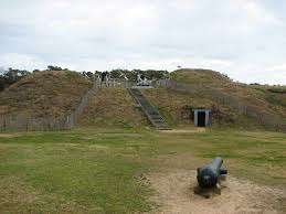 Modern day reconstruction of a small portion of Fort Fisher
