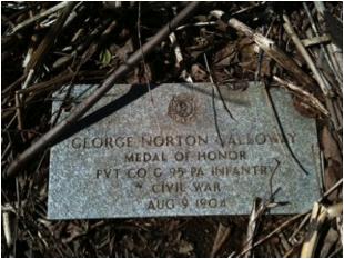 George Norton Galloway headstone Sylvester Hopkins Martin headstone