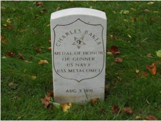 Henry Charles Baker headstone at Mount Moriah Cemetery