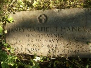 James Garfield Haney headstone at Mount Moriah Cemetery