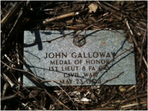 John Galloway headstone Sylvester Hopkins Martin headstone