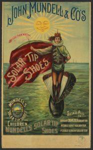 Advertisement for John Mundell & Co's Solar Tip Shoes