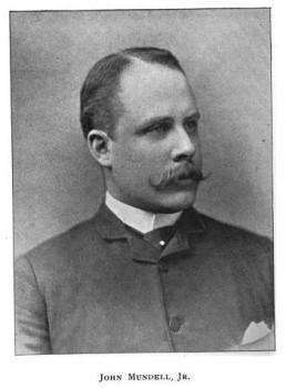Black and white portrait of John Mundell, Jr.