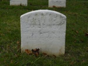 John Smith headstone at Mount Moriah Cemetery in Philadelphia, Pennsylvania