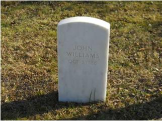 John Williams headstone at Mount Moriah Cemetery in Philadelphia, Pennsylvania