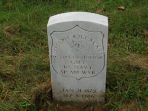 Joseph Killackey headstone at Mount Moriah Cemetery in Philadelphia, Pennsylvania