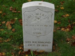 James Martin headstone at Mount Moriah Cemetery in Philadelphia, Pennsylvania
