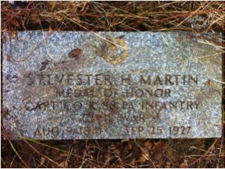 Sylvester Hopkins Martin headstone at Mount Moriah Cemetery in Philadelphia, Pennsylvania