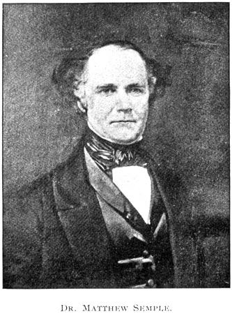 Matthew Semple, Doctor and Professor