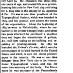 Newspaper clipping of Robert S. Menamin Obituary
