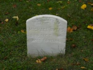 Michael Owens headstone at Mount Moriah Cemetery in Philadelphia, Pennsylvania