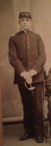 Herman Gustav Hillebrand in military uniform at age 19