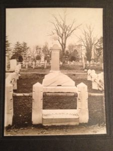 Hillebrand family grave site at Mount Moriah Cemetery