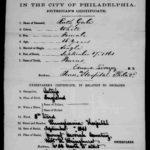 Ruth Gale death certificate from Philadelphia, Pennsylvania