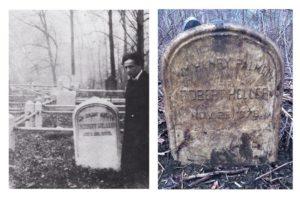 Robert Heller headstone at Mount Moriah Cemetery