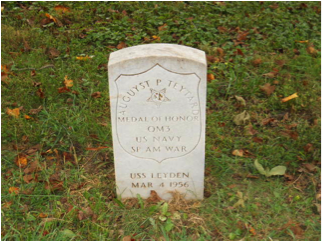 August P. Teytand headstone at Mount Moriah Cemetery in Philadelphia, Pennsylvania