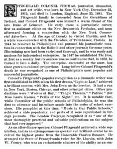 Colonel Thomas Fitzgerald obituary