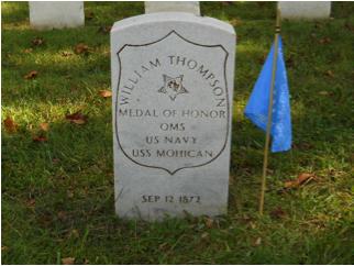 William Thompson headstone at Mount Moriah Cemetery in Philadelphia, Pennsylvania