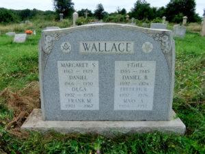 Col. Frank McAnally Wallace headstone at Mount Moriah Cemetery in Philadelphia, Pennsylvania