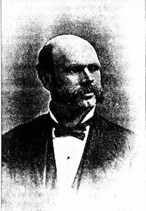 Faded black and white photo of William Burns Smith