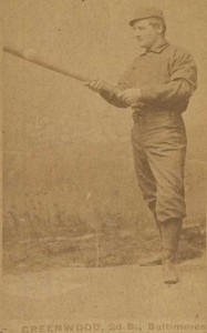 William F. (Bill) Greenwood playing baseball