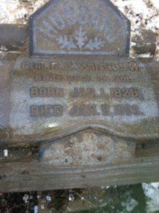 Robert Emmet Winslow headstone at Mount Moriah Cemetery