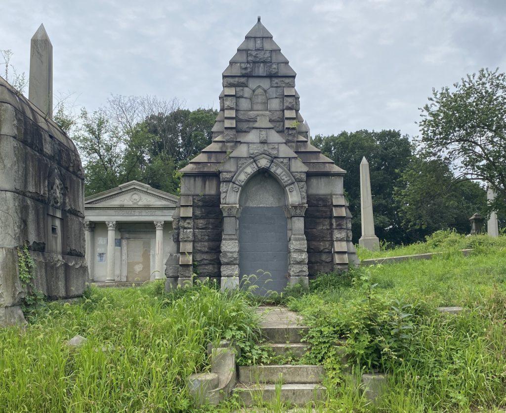 High grass on mausoleum hill